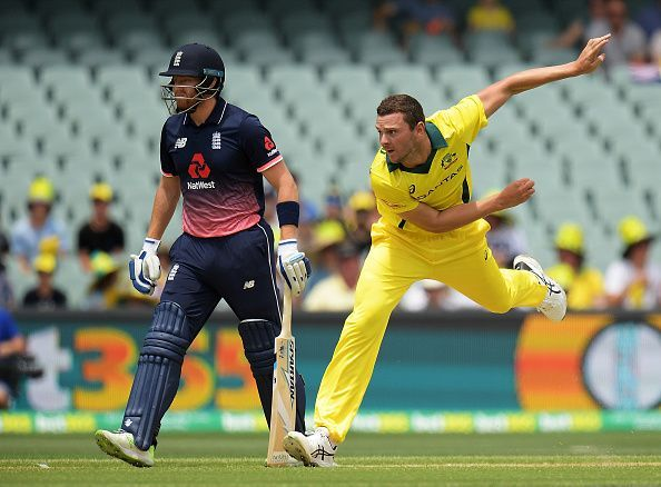 Josh Hazlewood was the Man of the Match in the Quarter Final