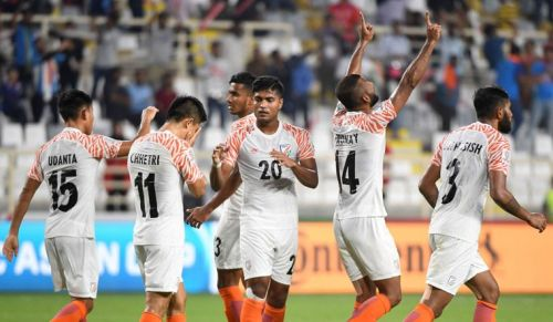 Indian Football Team in action at the AFC Asian Cup
