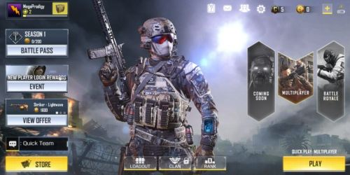 Call of Duty Mobile: Legends of War home screen