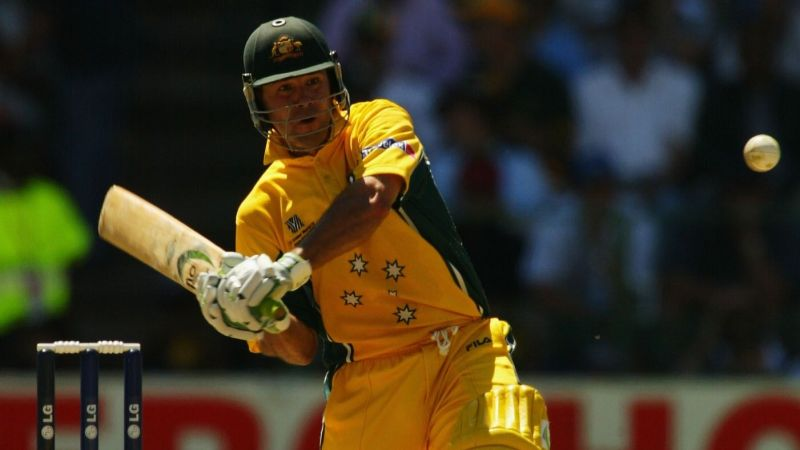 Exhilarating strokeplay by skipper Ricky Ponting in the World Cup 2003 final.