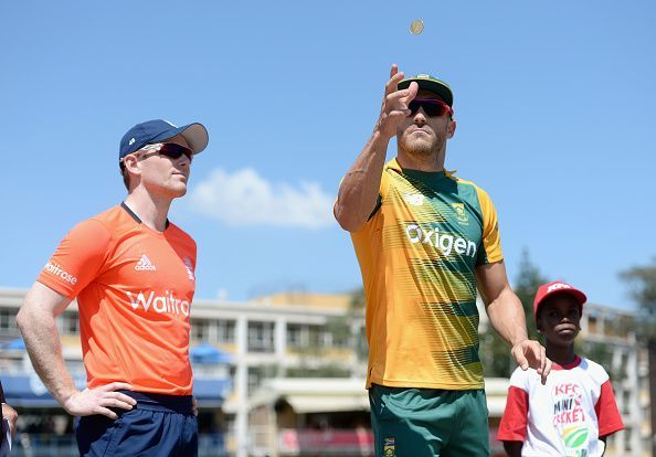 Eoin Morgan and Faf du Plessis
