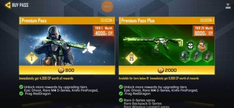 Call of Duty Mobile Legends of War Battle Pass