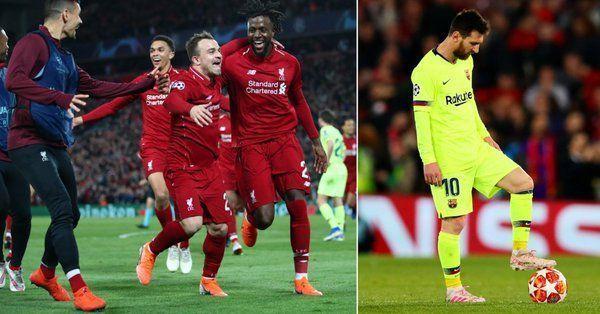 Liverpool beat Barcelona 4-0 on Tuesday