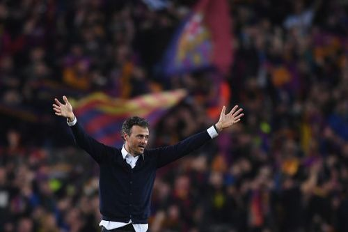 Luis Enrique won the treble in his first season as Barcelona manager