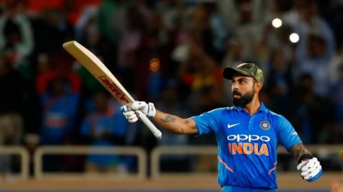 Kohli came in when India were in trouble (Image Courtesy: BCCI)