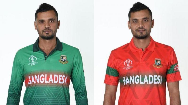 Masrafe Mortaza modeling the new Bangladesh kits.