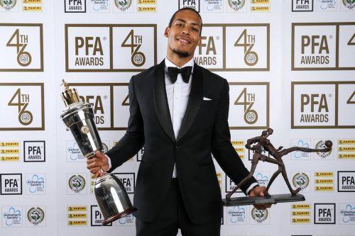 PFA Player of the Year (Source: Virgil van Dijk Twitter)
