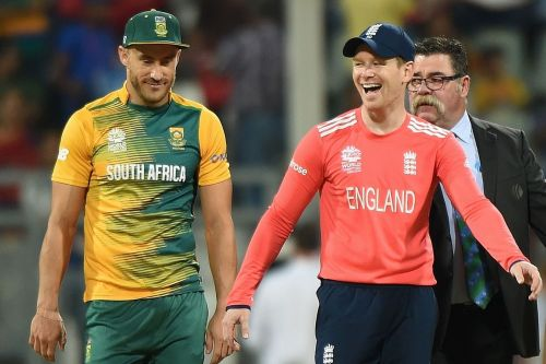 Faf du Plessis and Eoin Morgan will aim to clinch first points in the tournament opener.