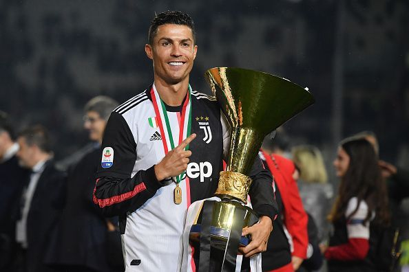 Ronaldo won the Serie A to become the first player to win the Serie A, La Liga, and English Premier League