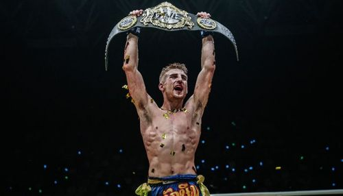 Haggerty pulled the upset and took Sam-A's ONE Flyweight Muay Thai World Championship
