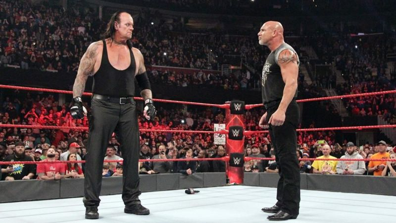 The Undertaker eliminated Goldberg from the 2017 Royal Rumble