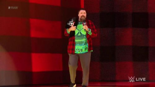 Mick Foley with the 24/7 title