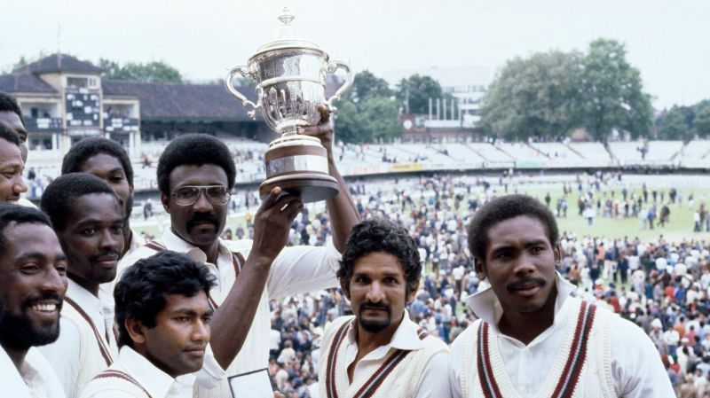 Cive Lloyd lifting his first World Cup after beating Australia in the finals