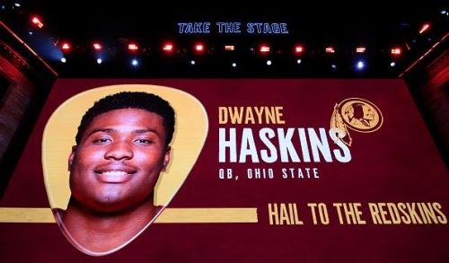 Dwayne Haskins was selected by the Washington Redskins with the 15th overall pick