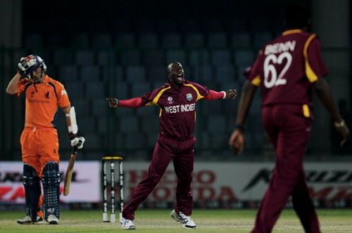 Kemar Roach's blistering speed left the Dutch shell shocked.