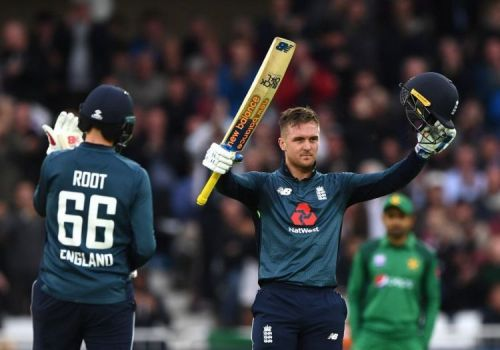 Jason Roy's 114 led England to a thrilling 3-wicket win over Pakistan in the 4th ODI