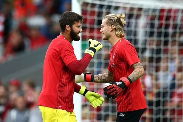 Allison Becker and Loris Karius