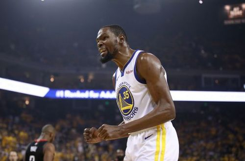 Kevin Durant is looking to win a third straight title