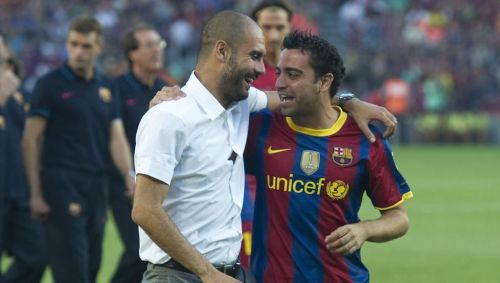 Xavi says that he has been lucky to play under a lot of fantastic coaches throughout his career