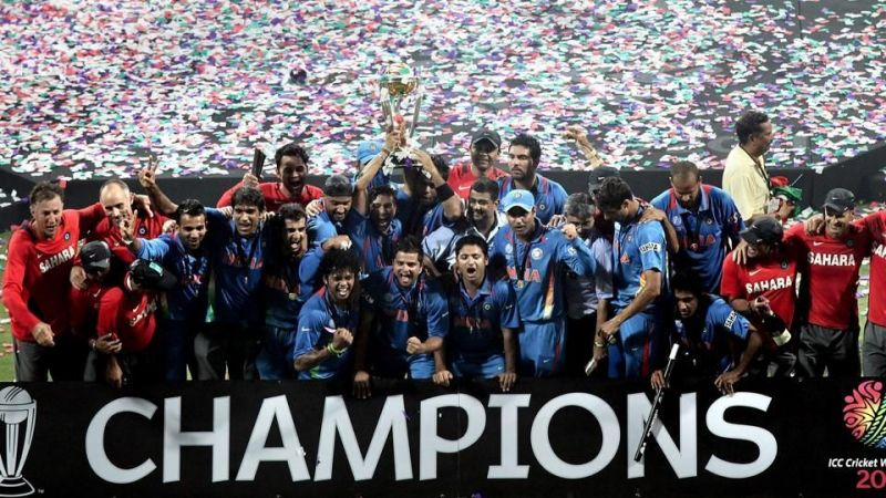 The Indian team at the 2011 World Cup