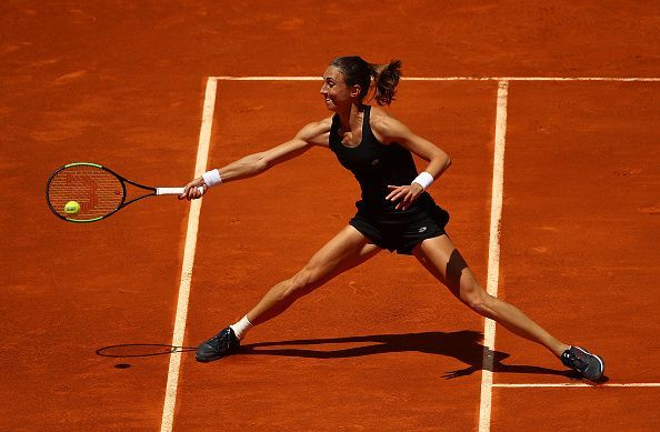 Petra Martic had her eyes on the prize during her opening round match with Garbine Muguruza at the Mutua Madrid Open