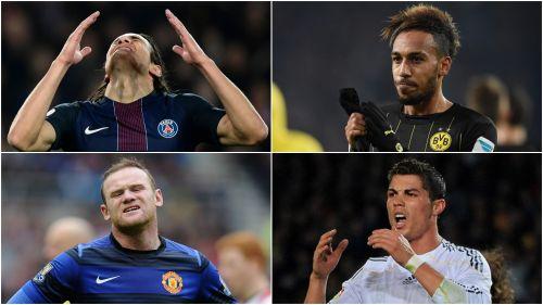 Cavani, Aubameyang, Rooney, Ronaldo