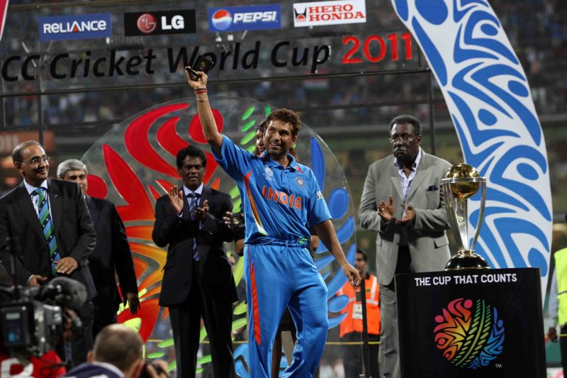 Sachin Tendulkar bids goodbye to the World Cup in 2011, the crowning glory to his magnificent career.