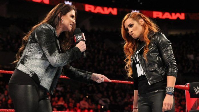 Stephanie McMahon with Becky Lynch. Credit: PW Mania