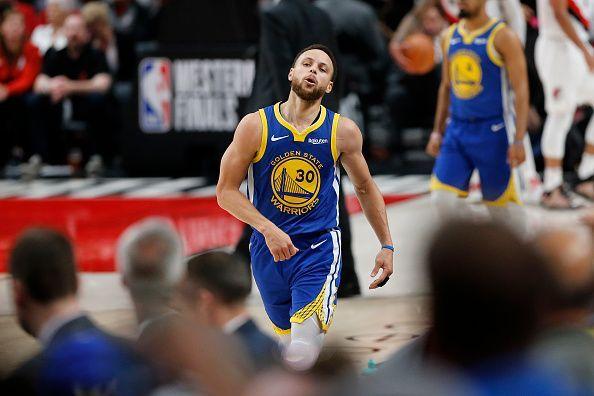 16b752e74f0 NBA Playoffs 2019  Golden State Warriors vs Portland Trail Blazers ...