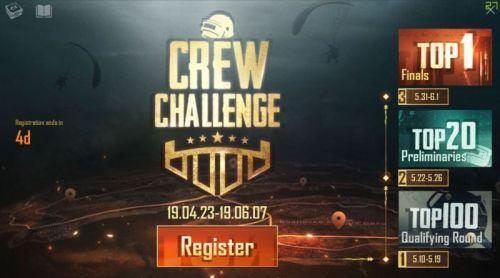PUBG Mobile crew challenge Registration
