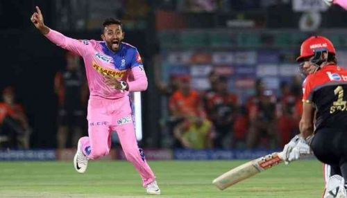Shreyas gopal took a hat-trick against RCB