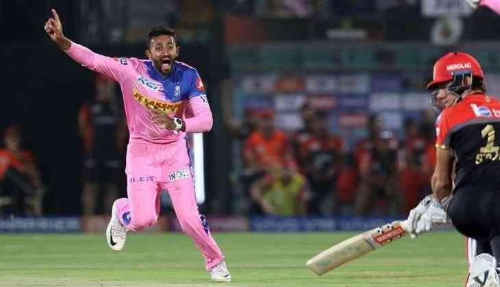 Shreyas gopal took a hat-trick against RCB