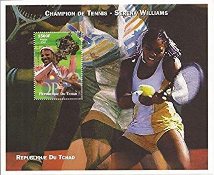 A stamp on Serena Williams.