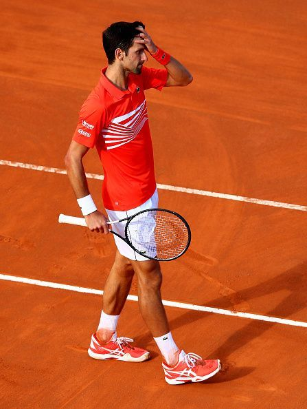 Novak Djokovic appeared exhausted in the final at Rome
