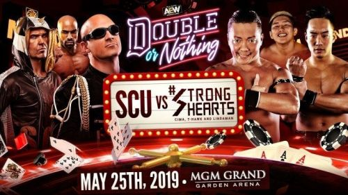 Image result for SoCal Uncensored (Christopher Daniels, Frankie Kazarian, and Scorpio Sky) vs. Strong Hearts (Cima, T-Hawk, and El Lindaman)