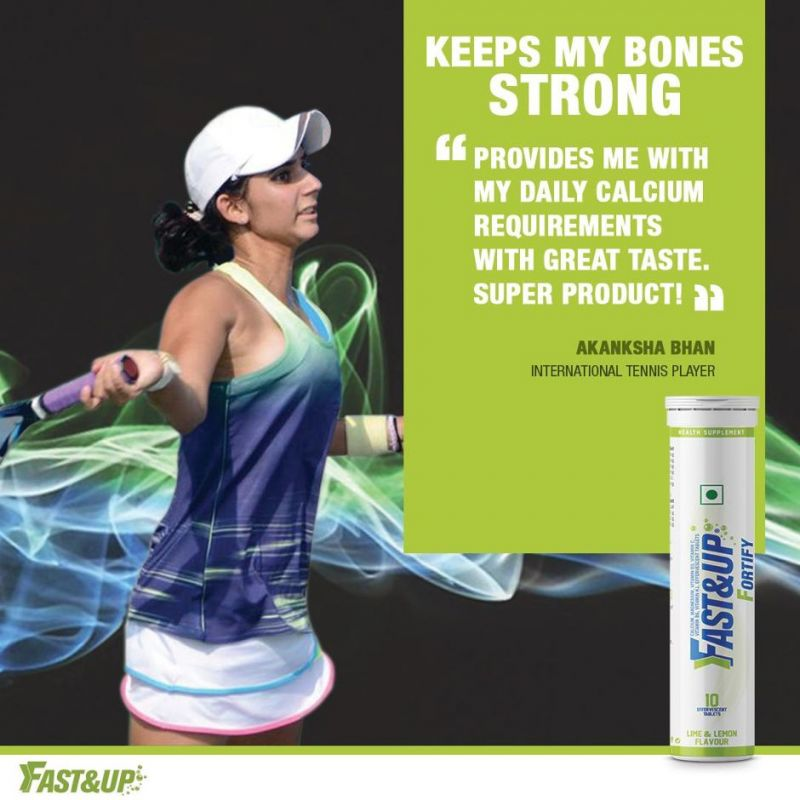 The secret behind her power-packed groundstrokes is Fast&Up