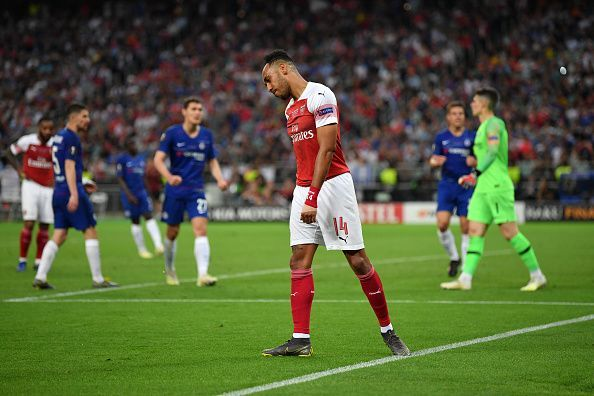 Aubameyang fluffed his lines on the biggest stage of them all as Arsenal wilted in the second-half