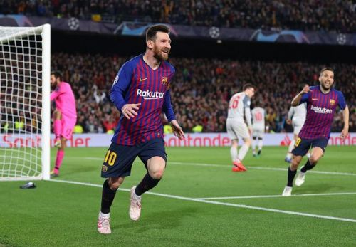 Lionel Messi is currently the leading goalscorer in Champions League