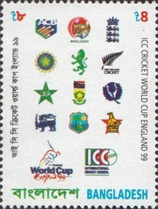 Stamp of Bangladesh on 1999 Cricket world cup