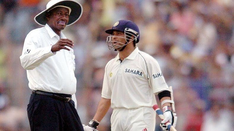Sachin Tendulkar and Steve Bucknor