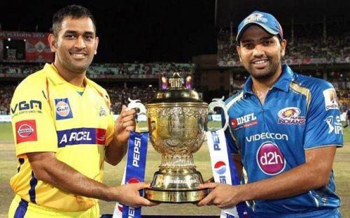 Dhoni and Rohit ( Image Courtesy: BCCI/IPLT20.com)