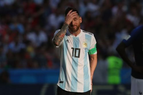 Messi has had a poor record with Argentina.