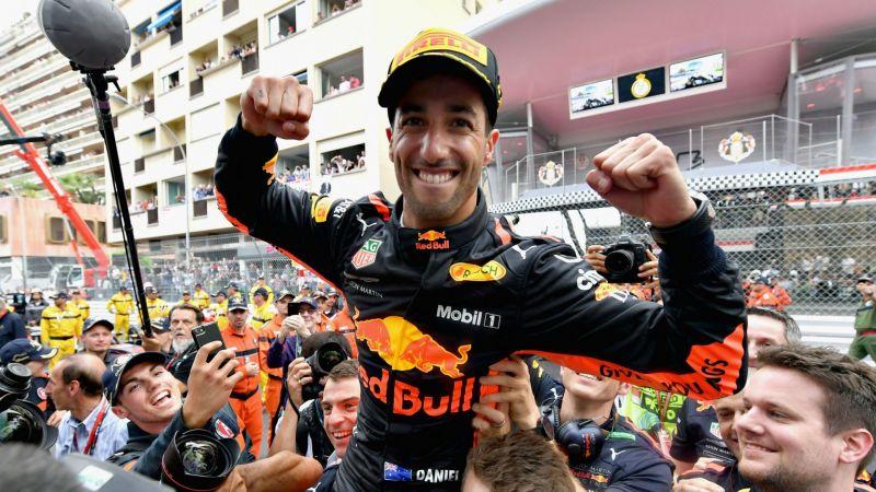 Daniel Ricciardo at the Monaco Grand Prix