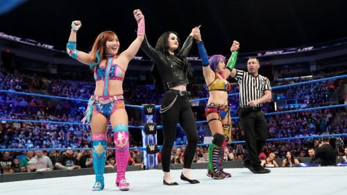 Sane and Asuka are coming for the Women's Tag Team Titles