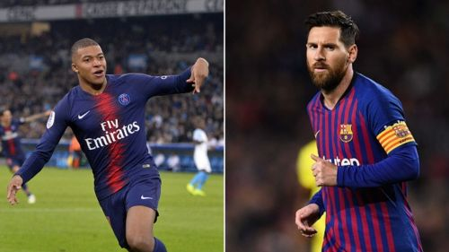 Kylian Mbappe cuts Lionel Messi's lead to just two goals in the race for the European Golden Shoe.