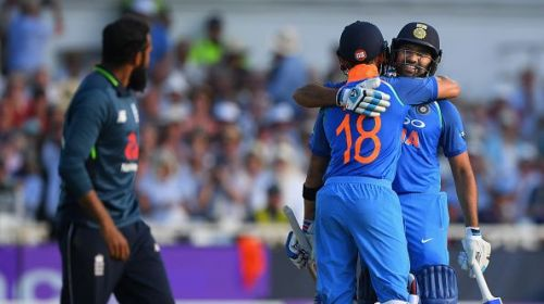 Virat Kohli congratulates Rohit Sharma for an achievement
