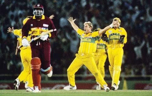 The magical Shane Warne mesmerised the West Indies.