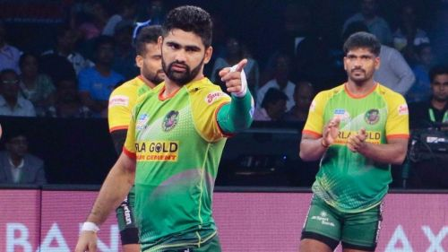 Pardeep Narwal is the top raider of Patna Pirates