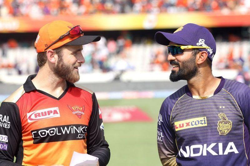 Kane Williamson and Dinesh Karthik ( image courtesy: iplt20.com )