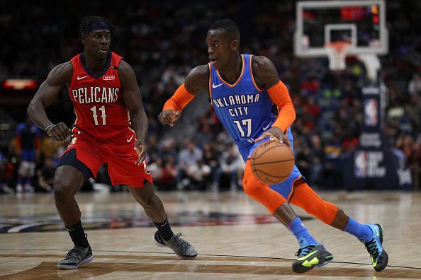 Dennis Schroder made a major contribution from the OKC bench